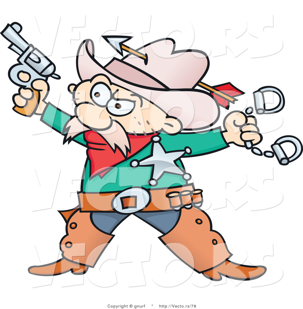 Cartoon Cowboy Sheriff