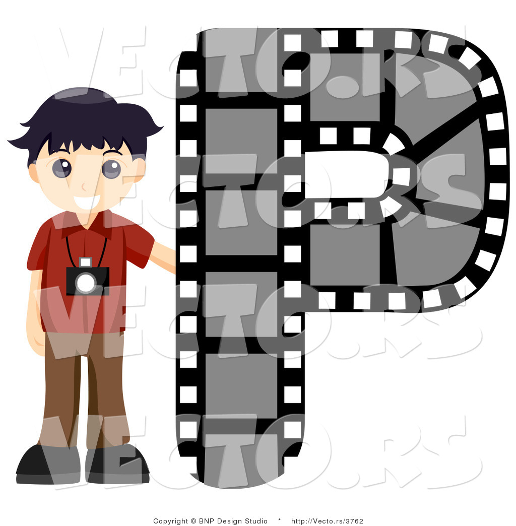 Vector of Alphabet Letter P with a Photographer Boy by BNP Design ...