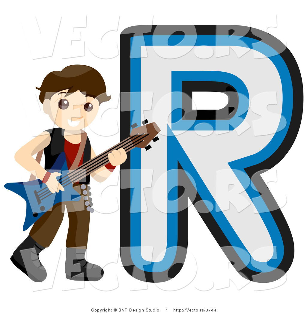 Letter R Art Vector of alphabet letter r
