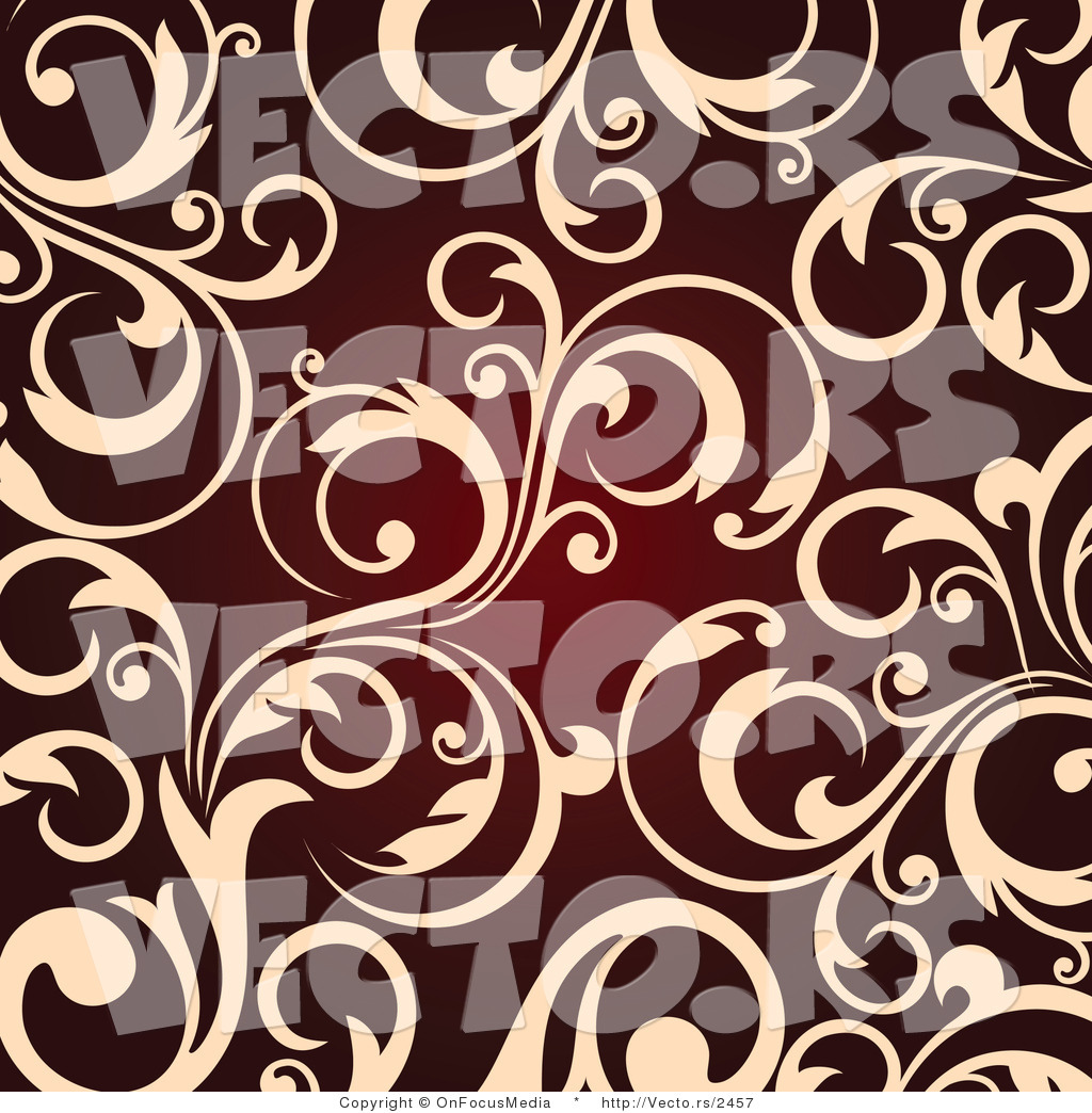 Beige Background Vector Vector of Beige Vine Scroll