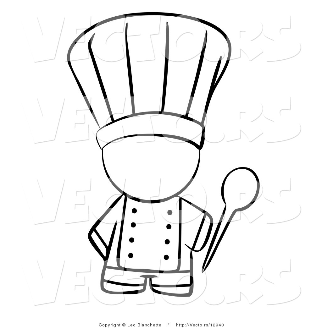 Pizza Chef Hat Colouring Pages Chef Hat