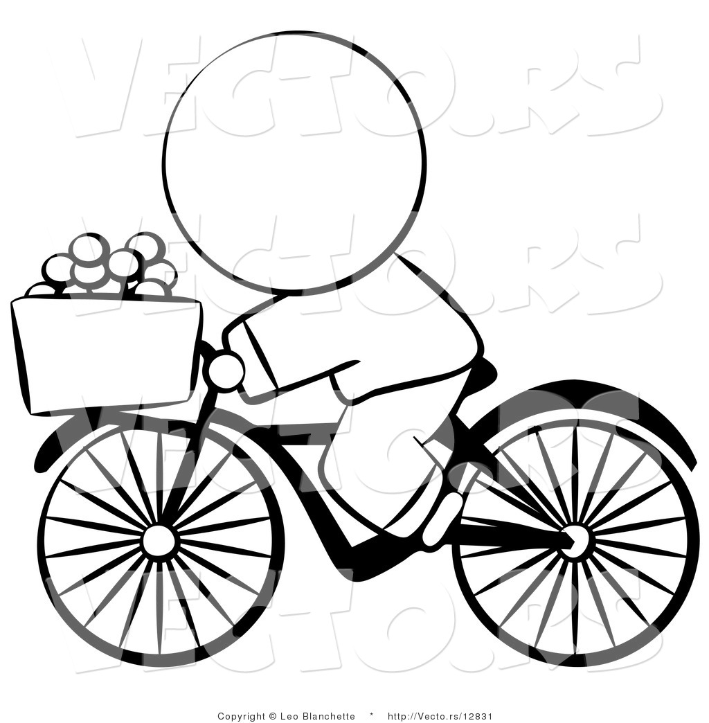 Ride a bike colouring pages for Bike riding coloring pages