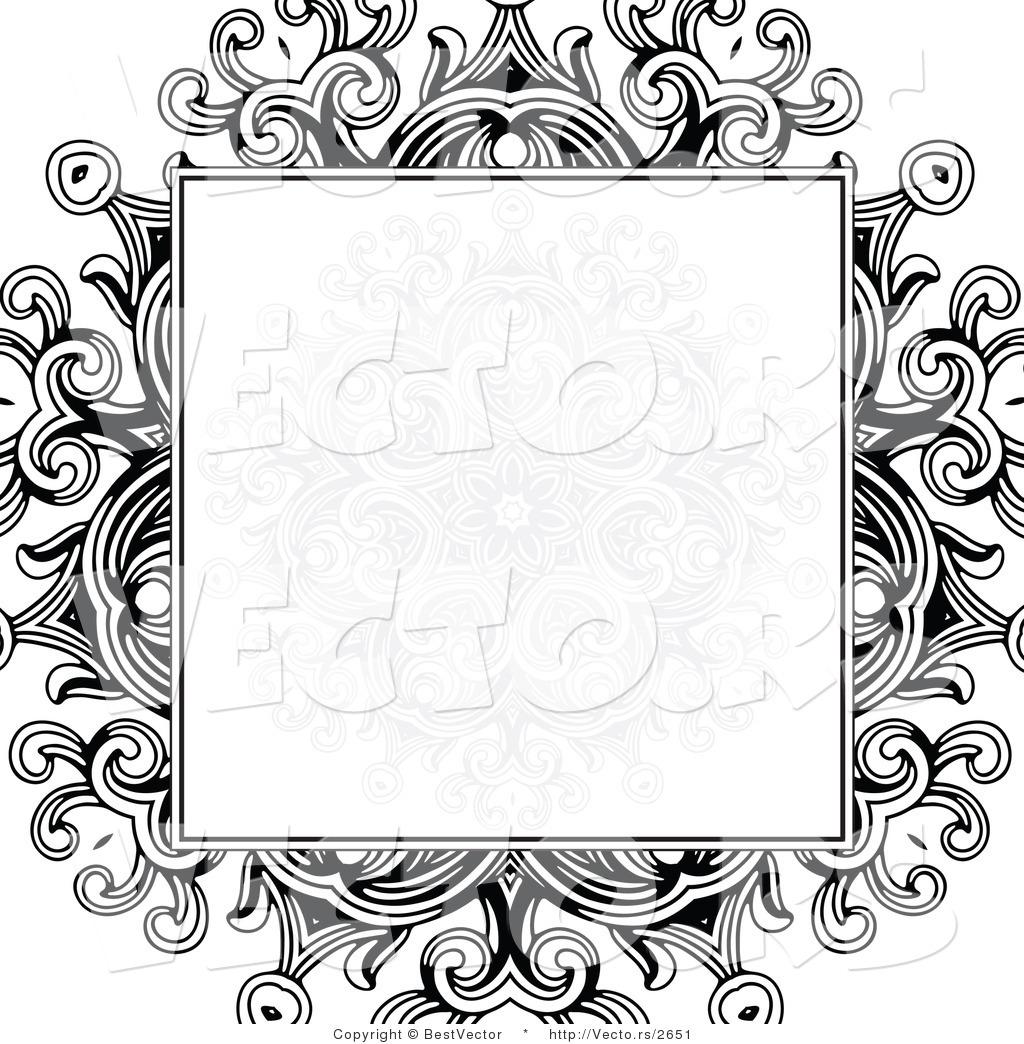 Royal border design black and white