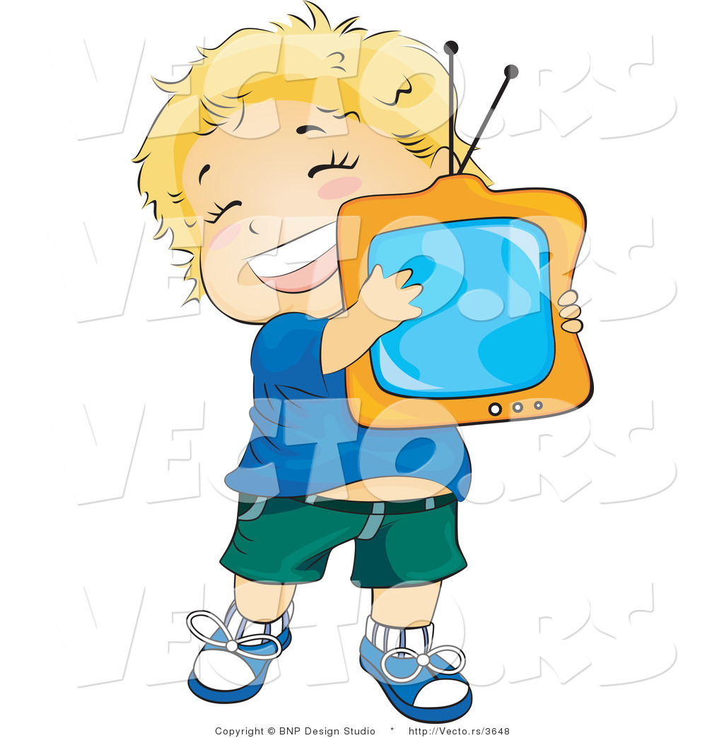 clipart boy watching tv - photo #34