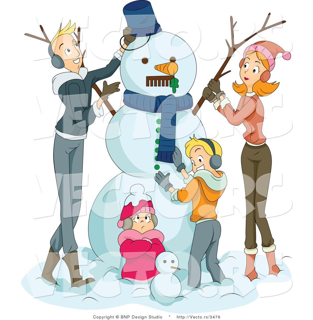 Building A Snowman Clipart Free snowman stock clipart