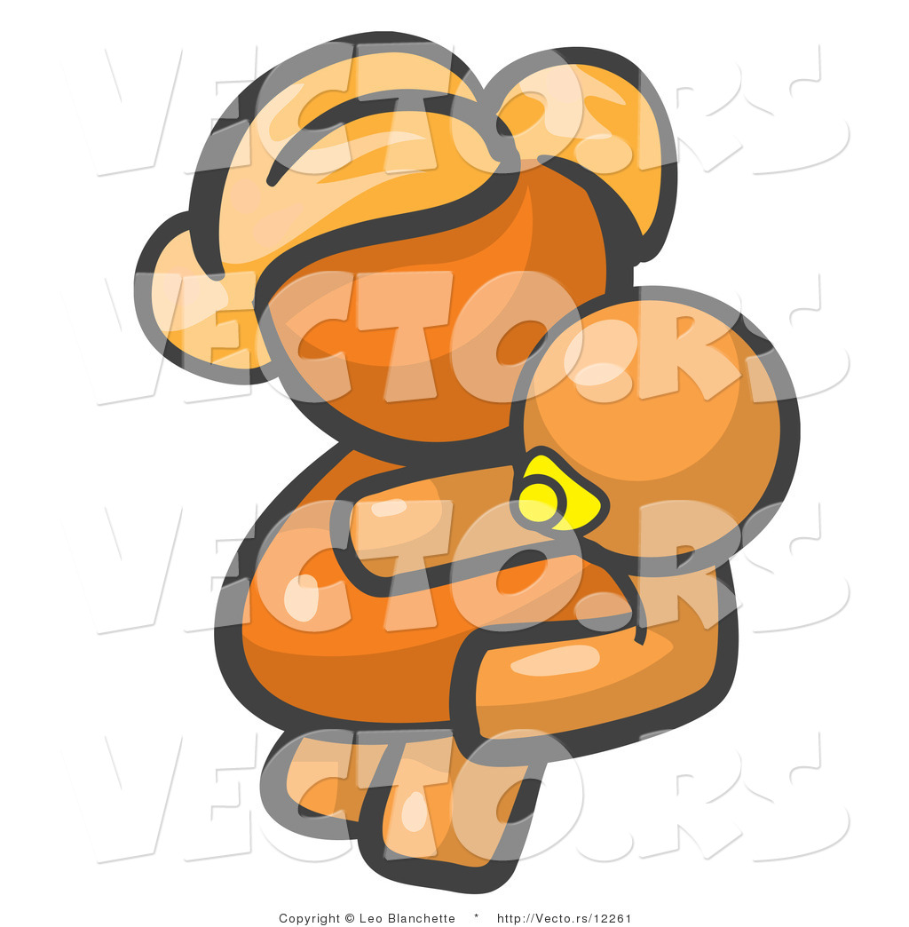 Cartoon baby boy holding a rattle in each hand royalty for Sfondilandia primavera