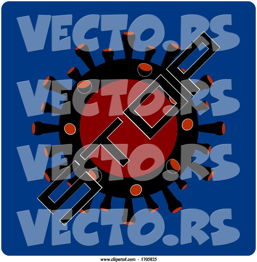 Vector Of Stop Virus Icon On Blue Background By