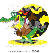 Cartoon Vector of a Crocodile Actor Bowing by Toonaday