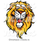 Cartoon Vector of a Friendly Cartoon African Lion Mascot by Chromaco