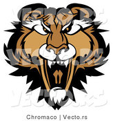 Cartoon Vector of a Growling Adult Mountain Lion Mascot Preparing to Attack by Chromaco