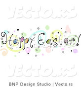 Cartoon Vector of a Happy Easter Banner by BNP Design Studio