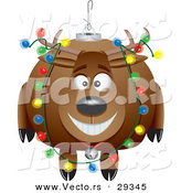 Cartoon Vector of a Happy Reindeer Christmas Bauble by Toonaday