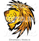 Cartoon Vector of a Happy Young Male Lion Mascot by Chromaco