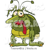 Cartoon Vector of a Sick Green Bug by Toons4Biz