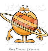 Cartoon Vector of a Sick Planet Saturn by Cory Thoman