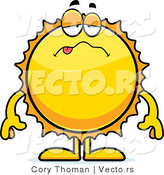 Cartoon Vector of a Sick Sun by Cory Thoman