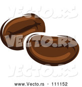 Cartoon Vector of Coffee Beans by Vector Tradition SM