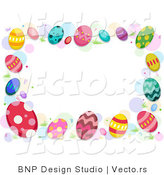 Cartoon Vector of Easter Egg Border by BNP Design Studio