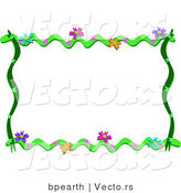 Cartoon Vector of Floral Vines Frame Border by Bpearth