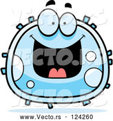 Cartoon Vector of Grinning White Blood Cell by Cory Thoman