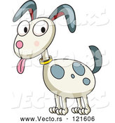 Cartoon Vector of Happy Dog with Spots by Graphics RF