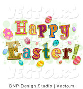 Cartoon Vector of Happy Easter Greetings by BNP Design Studio