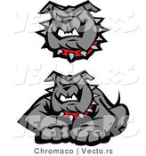 Vector of 2 Unique Bulldog Designs by Chromaco
