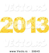Vector of 2013 Designed from Cheese by Andrei Marincas