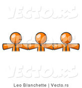 Vector of 3 Orange Business Guys Wearing Ties by Leo Blanchette