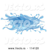 Vector of 3d Blue Water Splash by AtStockIllustration