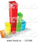 Vector of 3d Colorful Bar Graph and Shadow 8 by Vector Tradition SM
