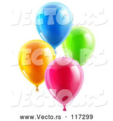 Vector of 3d Colorful Party Balloons by AtStockIllustration