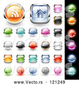 March 28th, 2018: Vector of 3d Colorful Website Icon Button Design Elements by TA Images