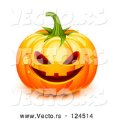 April 30th, 2018: Vector of 3d Dewy Jackolantern Halloween Pumpkin by Oligo