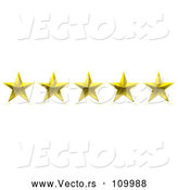 Vector of 3d Five Gold Star Rating Award by Michaeltravers