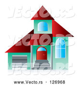 Vector of 3d Green and Red Home Page App Button by MilsiArt
