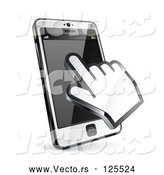 Vector of 3d Hand Cursor Using a Touch Cell Phone by Beboy