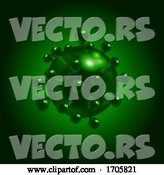 Vector of 3D Virus Molecule Covid10 in Green by Elaineitalia
