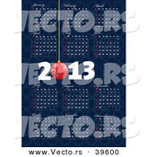 Vector of a 2013 Blue Calendar by Leonid