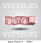 Vector of a 3d 2013 Cubes in Snow by Vectorace