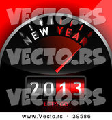 Vector of a 3d 2013 Dashboard Counter with New Year - Lets Go Text by Oligo