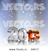 Vector of a 3d 2013 in Snow Background Design by Vectorace