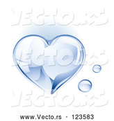Vector of a 3d Shiny Water Droplet Love Heart by TA Images