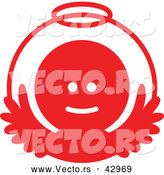 Vector of a Angel in Red Circle by Zooco