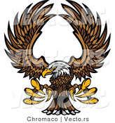 Vector of a Bald Eagle Reaching out with Talons While in Flight by Chromaco