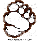 Vector of a Bear Paw Outlined Coloring Page by Chromaco