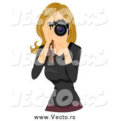 June 30th, 2015: Vector of a Beautiful Blond White Woman Taking Photographs by BNP Design Studio