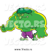 Vector of a Big Green Hulk Man by Toonaday