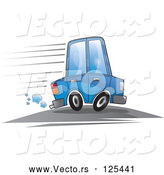 Vector of a Blue Car Speeding by YUHAIZAN YUNUS