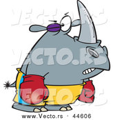 Vector of a Boxer Rhino with a Black Eye by Toonaday